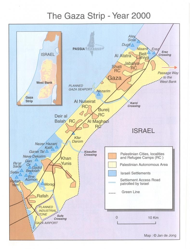 KARTEN - Nahostkonflikt Israel Palästina